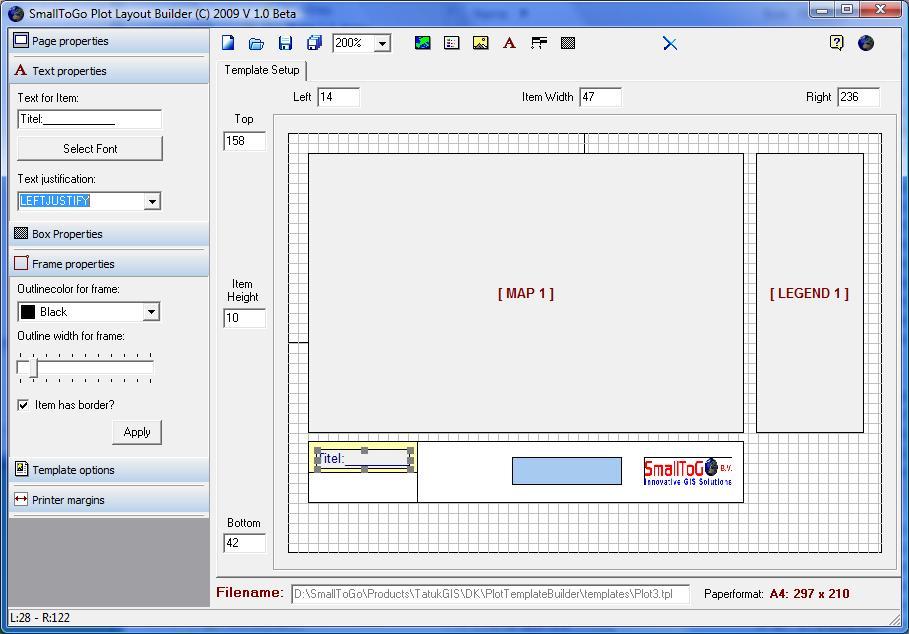 SmallToGo - Plot template